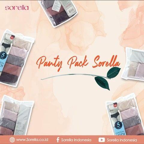 Sorella Panty Pack terbuat dari bahan cotton yang cocok untuk Ladies yang memiliki tubuh agak berisi, dengan cuttingan maxi dan lebih nyaman untuk digunakan sehari hari.  Langsung kunjungi website sorella.co.id dan pesan panty pilihan kamu sekarang juga!  #PantyPackSorella  #SorellaIndonesia  #TrueInnerBeauty  #PantySorella